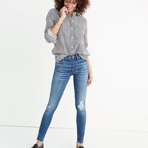 "9"" High-Rise Skinny Jeans in Allegra Wash: Rip and"